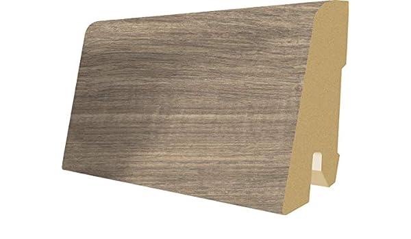 Bodenleiste 2,4m passt zu EHL113 Grandola Kiefer grau EGGER Home Sockelleiste grau L414 Fu/ßleiste