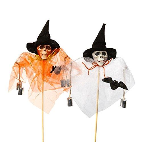 heitmann-deco-30481-casa-de-halloween-2er-set-craneo-decoracion-para-enchufar-blanco-y-naranja