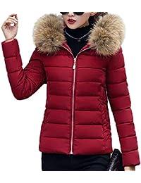 Flabor Damen Winterjacke mit Fellkapuze Schwarz Mantel Lang Parka Winter  Jacke Daunenjacke Faux Winter Pelzmantel Outwear 2c1439c874