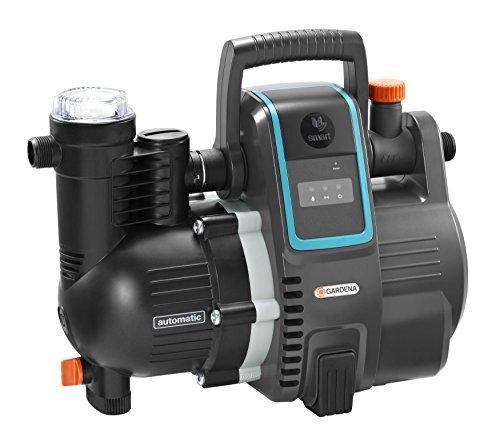 Haus-wasser-pumpe Elektrische (GARDENA smart Pressure Pump: Hauswasserautomat via App / Tablet steuerbar, Fördermenge 5000 l/h, wartungsfrei, integrierter Vorfilter, 8 m max. Ansaughöhe, Trockenlaufsicherung (19080-20))
