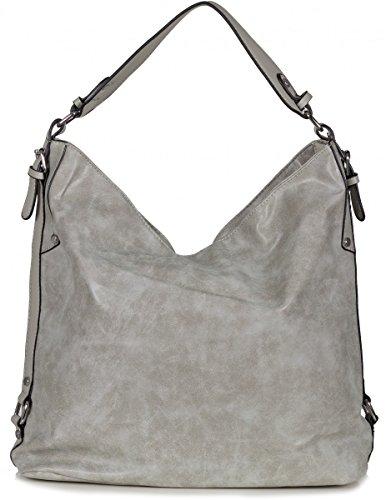 Xuna, Borsa a spalla donna grigio Grau Grau