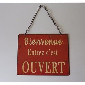 """Plaque """"Ouvert-Fermé"""" rouge"""