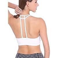 DODOING Damen Sport BH Gepolstert Elastizität Bustier Yoga BH Ohne Bügel Comfort Atmungsaktiv Sports Bra Top