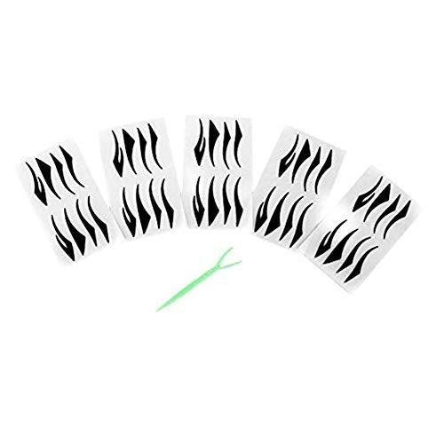40 paires eyeliner noir Autocollants magique Faux Eyeliner auto-adhésif invisible à double bande Paupières Coller Fibre beauté Outils de maquillage