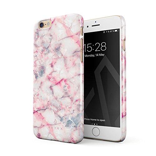 BURGA Hülle Kompatibel mit iPhone 6, iPhone 6s Handy Huelle Beere Marmelade Pink Rosa Süßigkeiten Bunt Marmor Marble Dünn, Robuste Rückschale aus Kunststoff Handyhülle Schutz Case Cover
