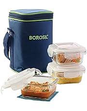 Borosil Glass Lunch Box Set of 3