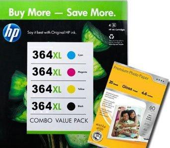 HP 364XL Multipack - Lot de 4 cartouches d'encre pour