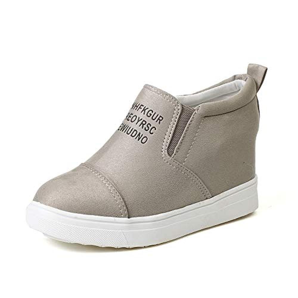 Кроссовки Rioneo Damen Sneaker Wedges Freizeit Turnschuh Stiefeletten Sportliche Plateau High Leder Kurzschaft Keil Schuhe Chelsea Ankle Boots Schwarz