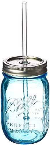 Southern Homewares sh-10013Heritage Mason Jar Sipper Trinkflasche Glas, blau