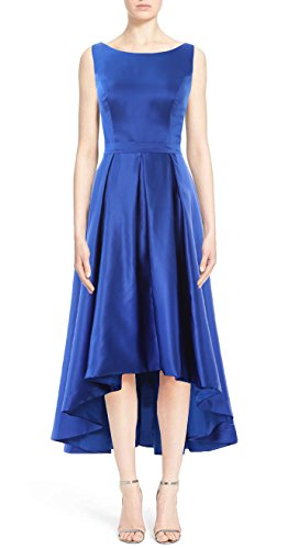 MACloth Elegant Bateau Neck High Low Cocktail Dress Wedding Party Formal Gown Wisteria