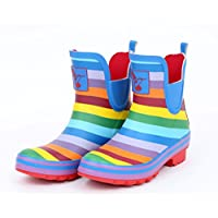 Evercreatures Womens Ankle Wellies - Rainbow