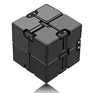 Funxim Infinity Cube, Unendlicher Würfel Spielzeug, Magic Unendlicher Flip Würfel Dekompression Spielzeug, Tötungs Zeit Zappeln Spielwaren Stressabbau Würfel (Schwarz)