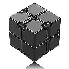 Idea Regalo - Funxim Infinity Cube Toy per Adulti e Bambini, Nuova Versione Fidget Finger Toy Sollievo dallo Stress e ansia, Killing Time Fidget Toys Cubo Infinito per Il Personale dell'ufficio (Nero)