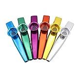 Babysbreath17 6 Piezas de bebé de Colores para niños Flautas de aleación de Aluminio de Metal Instrumentos Musicales Juguetes para niños Intelectual