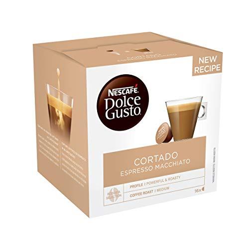 Nescafé Dolce Gusto Cortado Espresso Macchiato - Café - 48 Capsules (Pack de 3 boîtes x 16)