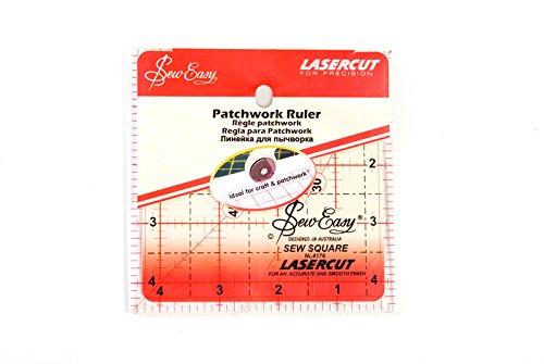 Sew-Easy - Righello quadrato per patchwork, 11 x 11 (Patchwork Tulip)