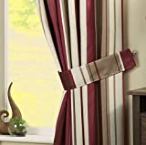 Dreams 'n' Drapes, bianchria per Camera da Letto, Tessuto, Claret, Curtain Tiebacks