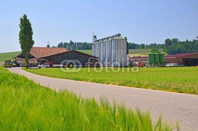 "Alu-Dibond-Bild 140 x 90 cm: ""moderner Bauernbetrieb"", Bild auf Alu-Dibond"