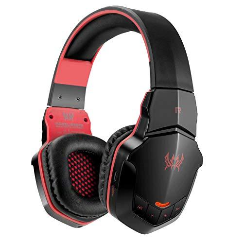 Preisvergleich Produktbild CSZH Wireless Bluetooth Headset Stereo Gaming Kopfhörer Headset mit Mikrofon für iPhone6 Samsung Smartphone (rot)