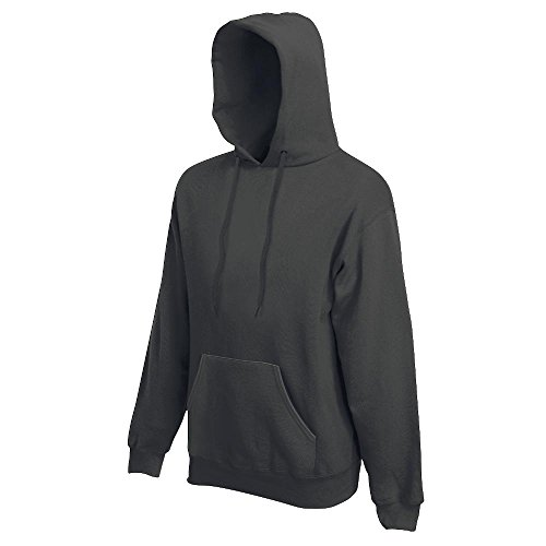 Fruit of the Loom Hooded Sweat, Light Graphite, M