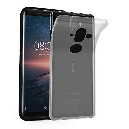 Cadorabo Hülle für Nokia 8 Sirocco/Nokia 9 2017 - Hülle in VOLL TRANSPARENT – Handyhülle aus TPU Silikon im Ultra Slim 'AIR' Design - Silikonhülle Schutzhülle Soft Back Cover Case Bumper