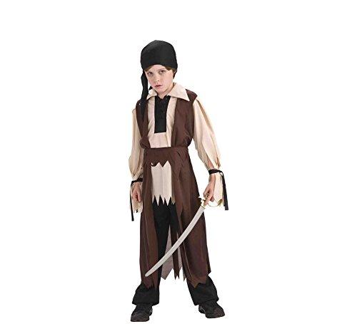 Rubies - Disfraz infantil de pirata fantasma, color marrón - Talla M (5-7 años)