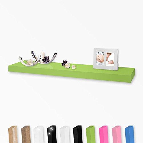 Wandboard Wandregal in vielen Farben und Größen, Farbe:Grün, Länge:120cm