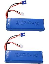 XCSOURCE 2pcs 7.4V 2700mAh 30C Lipo Batterie pour Hubsan H501S Quadcopter BC607