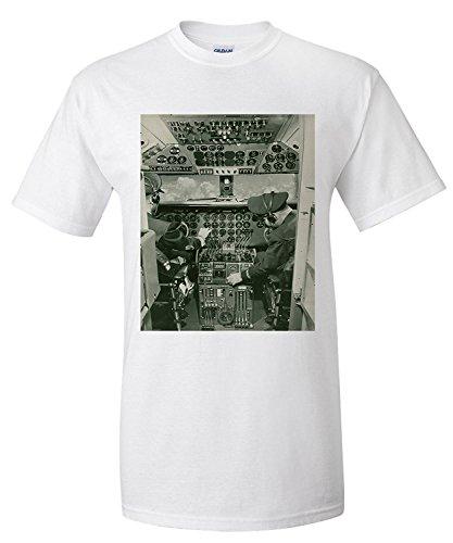 boeing-dc-6-cockpit-view-vintage-photograph-premium-t-shirt