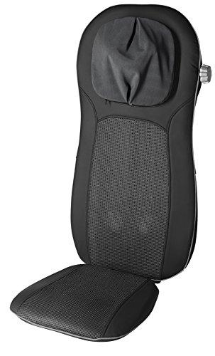 Medisana MCN Pro 88970,  Respaldo Masajeador para la Espalda Shiatsu y Acupresión (masaje espalda 3 modalidades + cuello altura regulable + asiento,  función calor,  imitación piel,  facil limpiar)