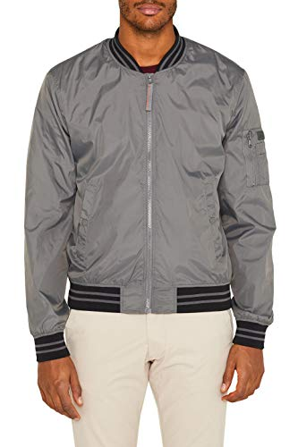 ESPRIT Herren 039EE2G004 Jacke Grau (Grey 030) Large (Herstellergröße: L)