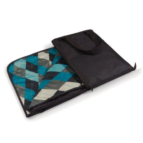 picnic-tiempo-vista-al-aire-libre-manta-black-blue-argyle-talla-unica