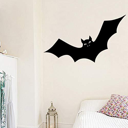 Sgbfz Halloween Aufkleber Fledermäuse Tiere Wanddekoration Kinderzimmer Wandaufkleber Ausgangsdekor Wohnzimmer, 59X102 Cm, Schwarz