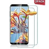 Aonsen Galaxy S8 Verre Trempé [Lot de 2], Film Protection en écran [Résistant aux Rayures][Superhard Dureté 9H] Compatible avec Samsung Galaxy S8 - [Transparent]