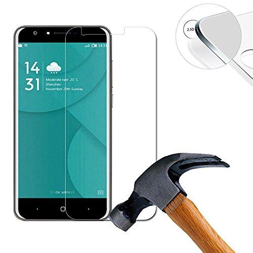 Lusee® 2 X Pack Panzerglasfolie Tempered Glass Hartglas Schutzfolie für Doogee Y6C 5.5 zoll Premium Screen Folie Protector Ultra Hart Bildschirmschutz 0,3mm 9H clear 2.5D