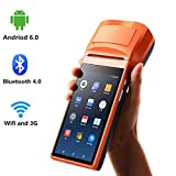 [ Android 6.0 ] 5.5 INCH Handheld Android POS-Terminal mit 3G WIFI Bluetooth MUNBYN Eingebauter Thermodrucker und 1D / QR Barcode-Leser für Kleinunternehmen Belegdruck