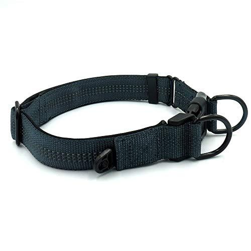 JKRTR Verstellbares reflektierendes Haustierhalsband aus Nylon Pet Classic Pet Collar Four Colors(Grau,Länge 120CM, Breite 2.8CM, Kasten 43-60CM.)