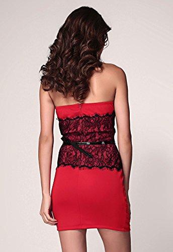 E-Girl femme Rouge SY2977-3 robe de cocktail Rouge