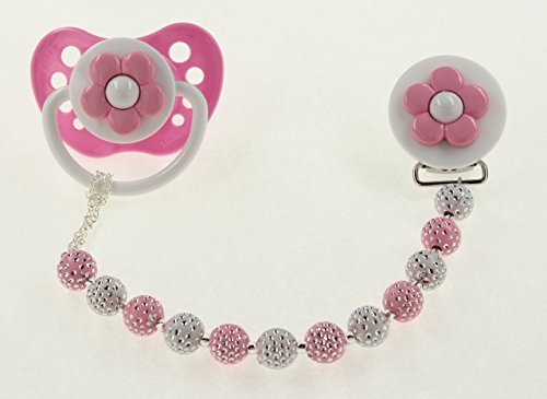 baby-pink-and-white-daisy-pastel-pacifier-clip-cppd-pacifier-not-included