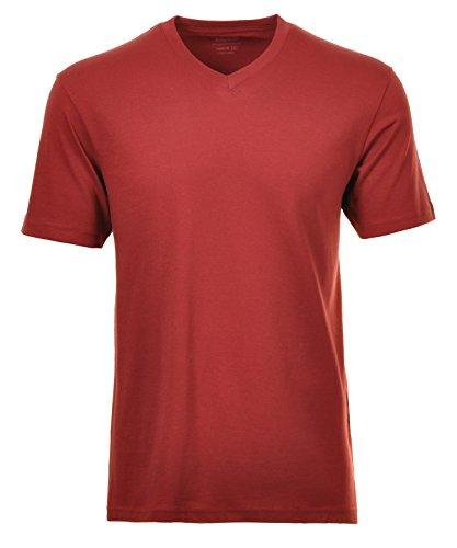 Ragman Herren T-Shirt V-Ausschnitt Single-Pack (Pack-v-neck T-shirts Herren)