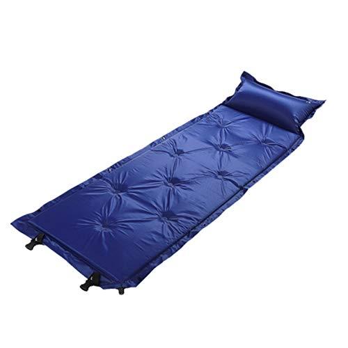 Bai Su Automatische aufblasbare Matten im Freien, die doppeltes Alleinerziehendes Eltern-Kind-Paar mit Kissen Nine-Point Camping Camping, 183X58X2.5cm genäht Werden können Plane
