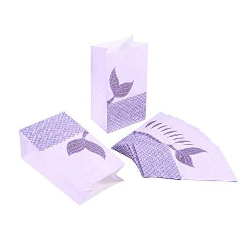 gfrau Geschenk Taschen Papiertüten, Urlaub Hochzeit Weihnachten Favor Süßigkeiten behandeln Taschen (lila) ()