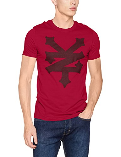 zoo-york-corning-t-shirt-homme-red-cardinal-red-l