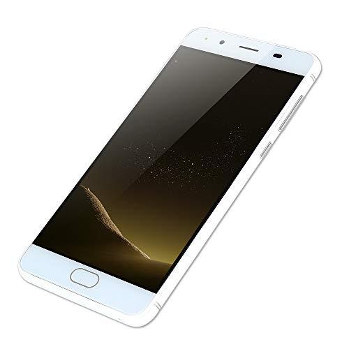 """Smartphone 5,0""""Ultradünne Android5.1 Quad-Core 512 MB + 512 MB GSM WiFi Dual-SIM-Dual-Kamera intelligentes Mobiltelefon (Weiß)"""
