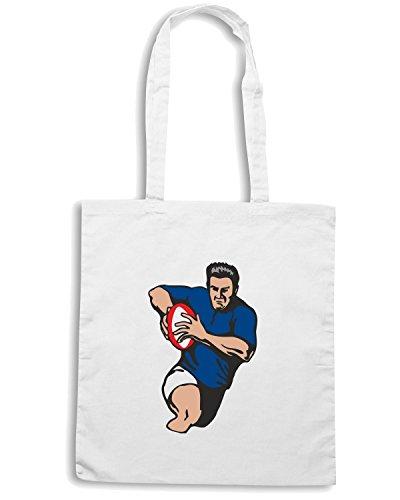 T-Shirtshock - Borsa Shopping TRUG0032 italy rugby Bianco