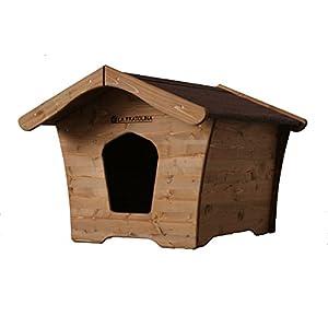 Cuccia di legno da esterno per cani di piccola, media taglia e Chihuahua