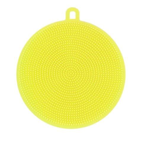 Gaddrt Lave-vaisselle éponge lave vaisselle Nettoyage antibactérien brosse à outils, silicone (Jaune)