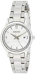 Seiko Damen Analog Quarz Uhr mit Edelstahl Armband SXDG93P1