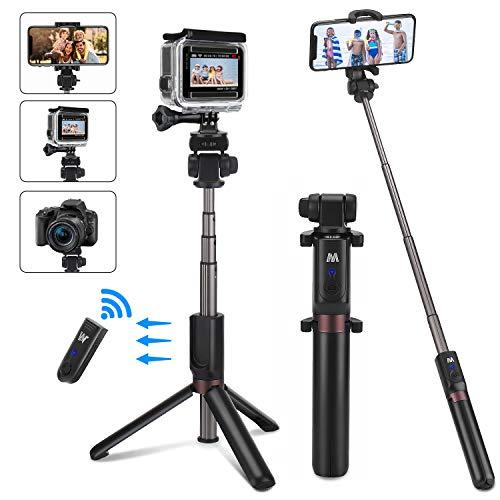 """Bastone Selfie Treppiede per Smartphone e Gopro[con Connettore Gopro],PEYOU 6IN1 Selfie Stick Bluetooth Estendibile Tenuto a Mano Treppiedi compatibile con Gopro/iPhone/Samsung e Smartphone 2.2-3.42"""""""