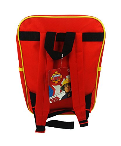 Image of Trade Mark Collections Fireman Sam Square Back Pack (Red)